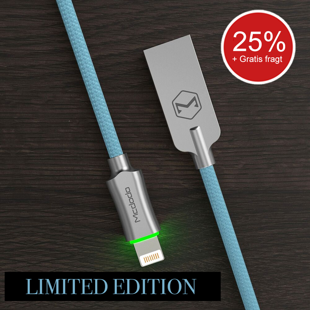 LIMITED EDITION: Blue - 1.8 meter Auto Disconnect (Apple)